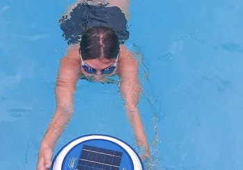 Floatron supports Kitty's swim for Dyslexia