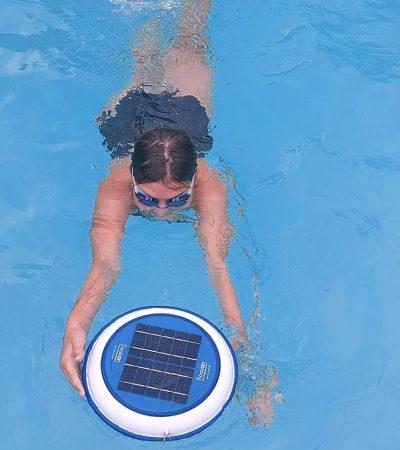 Floatron supports Kitty's swim for Dyslexia